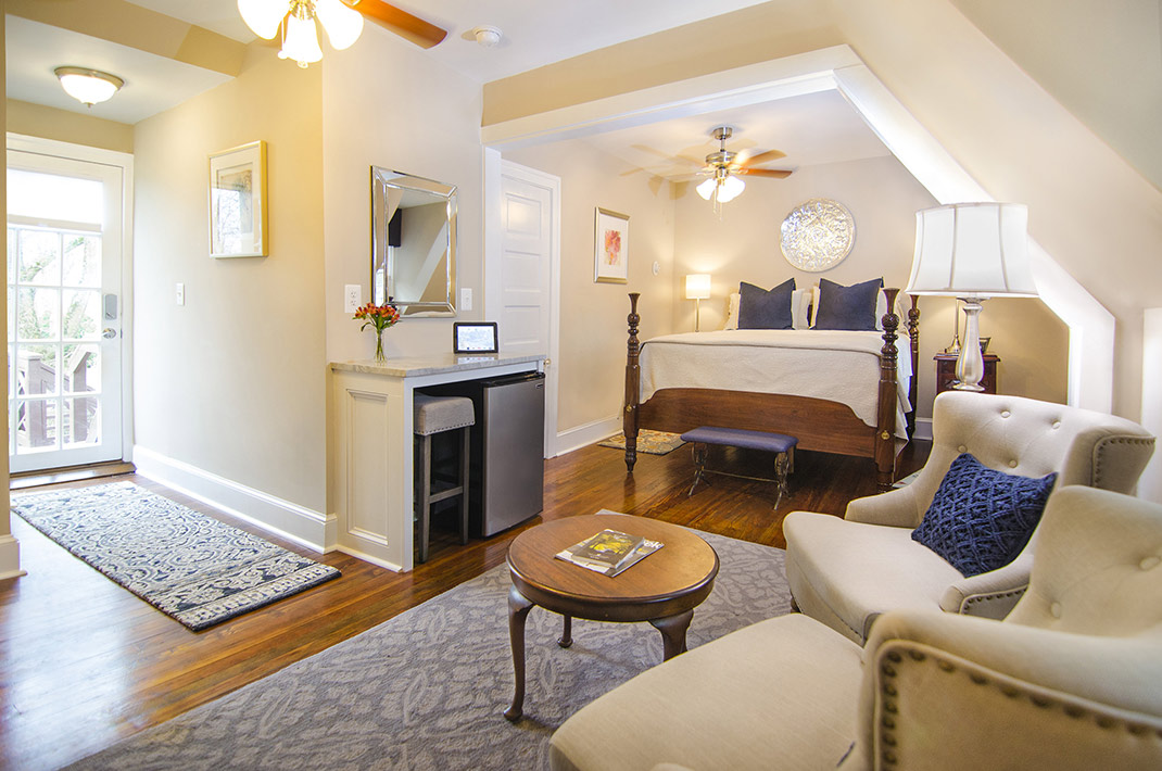Spacious guest suite with private entrance