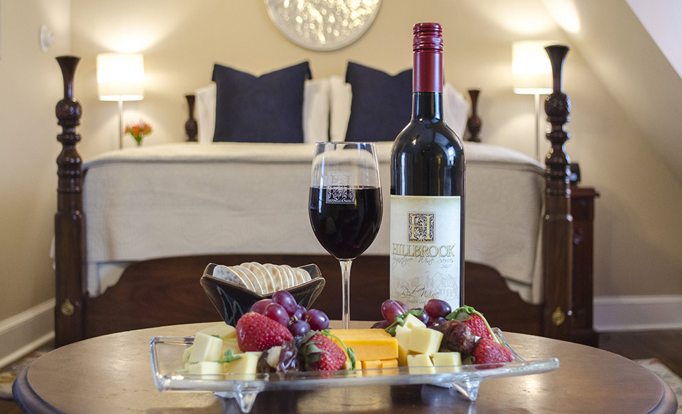 West Virginia Bed and Breakfast offers wine and other enhancements