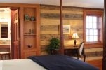 Log wall details in our Harpers Ferry Inn