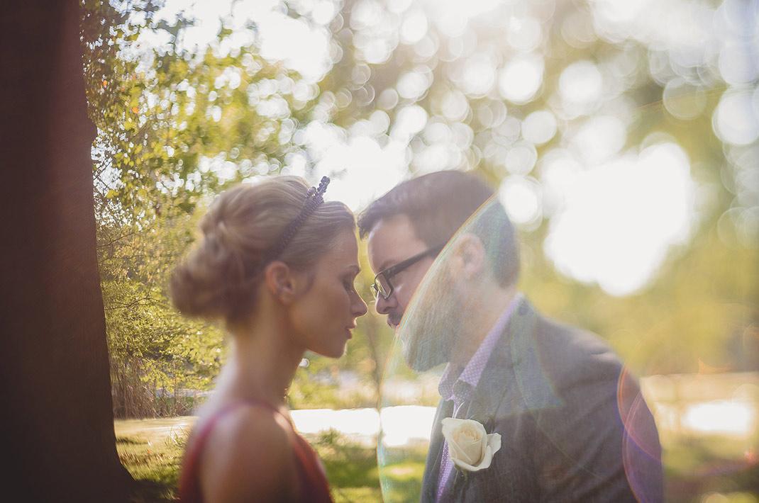 Bride and groom eloping in WV