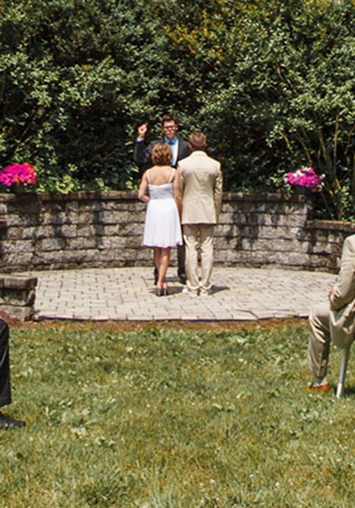 Small wedding in West Virginia