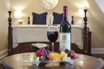 Wine and cheese at our WV Bed and Breakfast