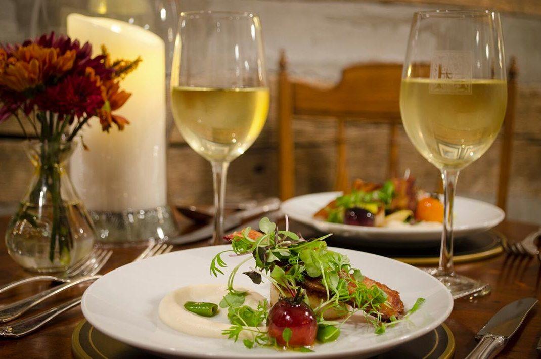Romantic wine dinner in WV