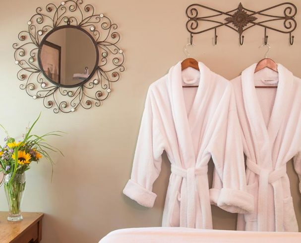 Couples robes at our West Virginia Spa Resort