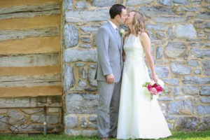 Couple kissing after eloping in WV