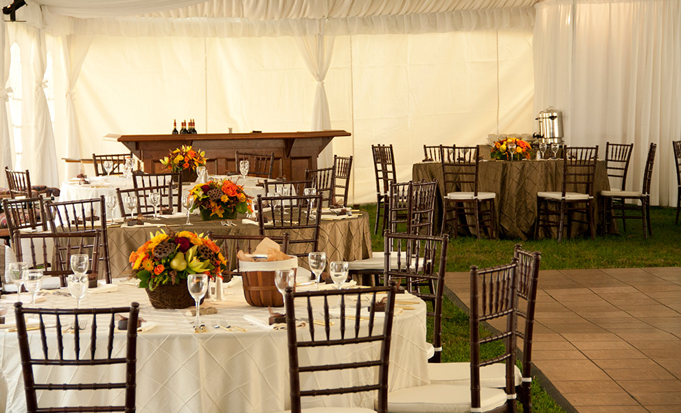 Reception tent at our West Virginia Wedding Venue