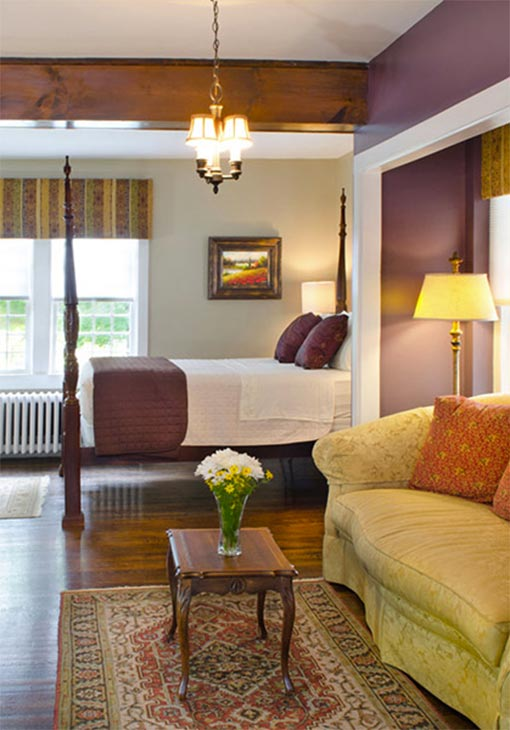 Couch and bed in West Virginia accommodation