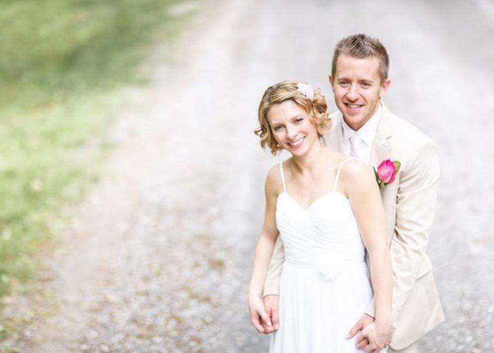 Bride and groom on West Virginia elopement