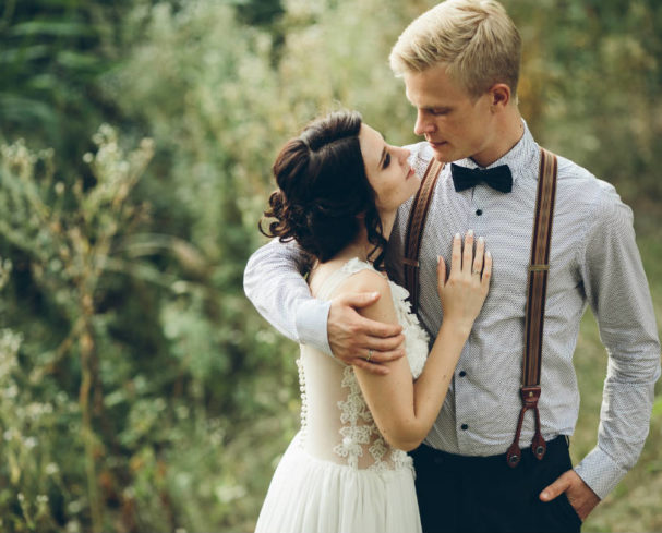 bride and groom eloping in west virginia