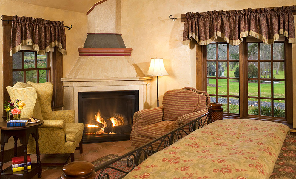 Warm and cozy fireplace in West Virginia bed and breakfast