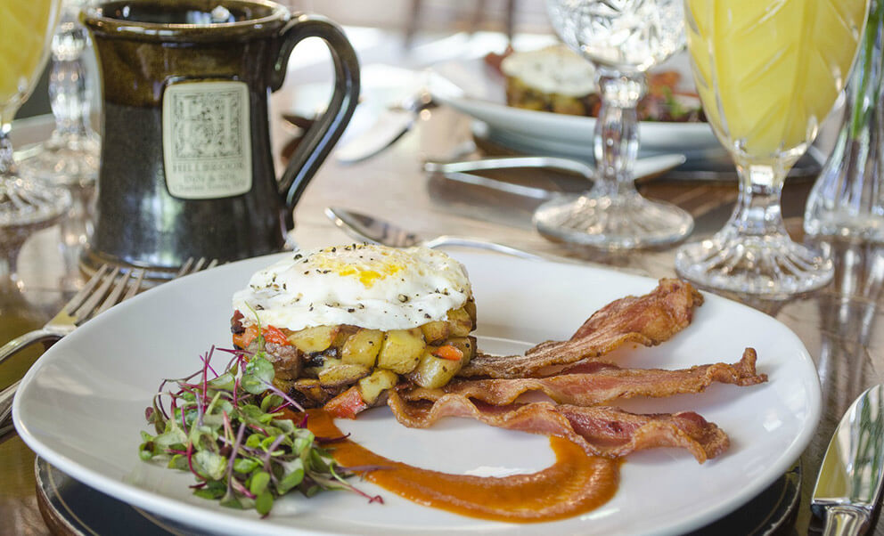 Delicious breakfast at Hillbrook Inn & Spa