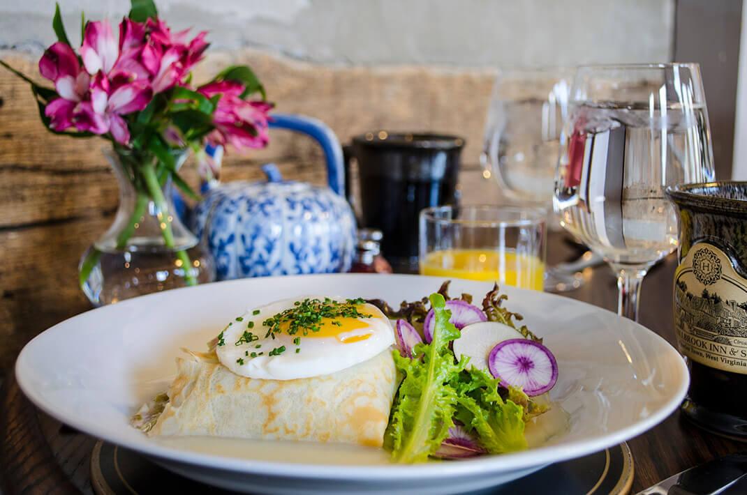 Delicious breakfast at Hillbrook Inn Restaurant