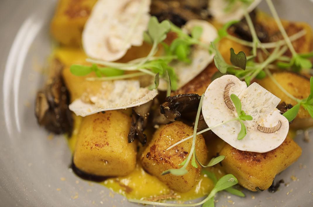 gnocchi & mushroom mix at Hillbrook Inn