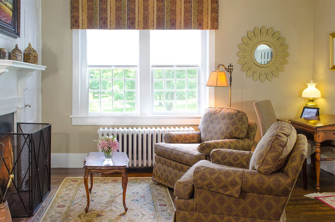 Chairs in Bamford Suite at Bed and Breakfast in Charles Town WV
