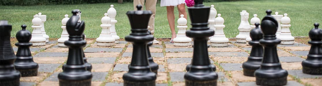 Lifesize Chess Board at Bed and Breakfast Near Harpers Ferry