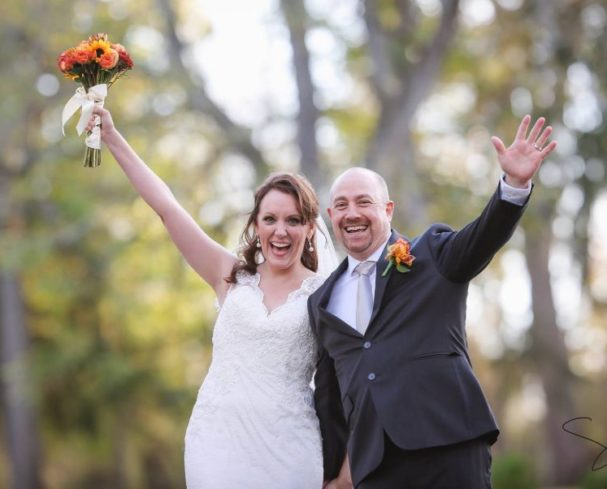 Couple Celebrating at Our WV Wedding Venue