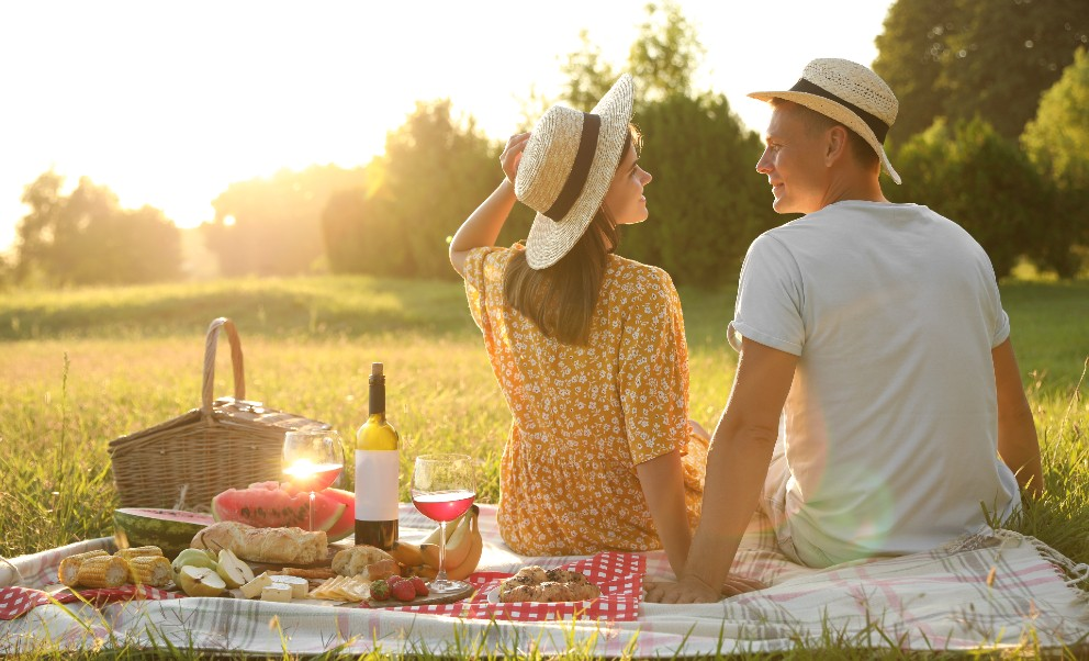 Couple on a Romantic Picnic in West Virginia